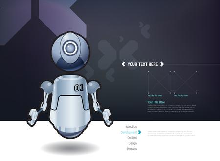 vector element: Vector floating robot design template Illustration