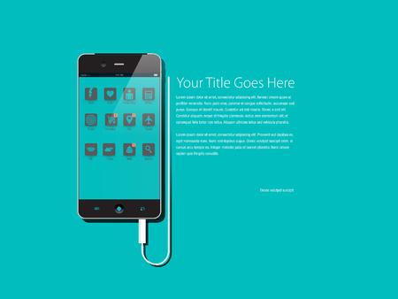 Generic Smartphone Charging design template Illustration