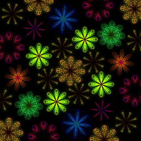 equaliser: Equaliser colourful shining lights abstract flower