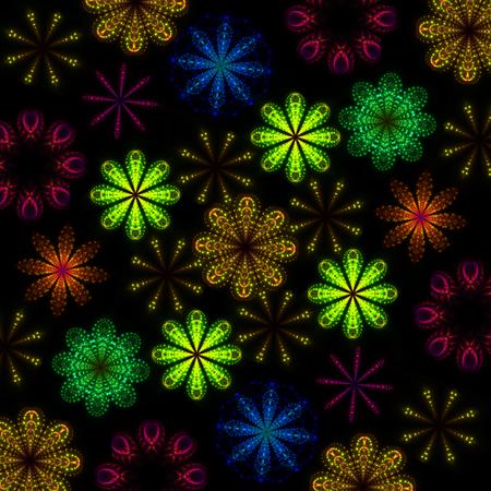 equaliser: Equaliser colourful shining lights abstract flower