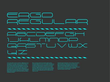 regular: Ergo font - regular