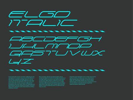 graphic background: Ergo font - Italic