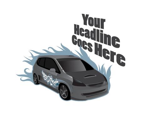 exotic car: vehicle design template