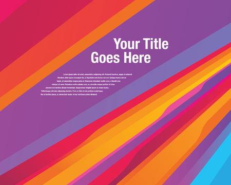 modern background: Colourful vibrant stripe Illustration
