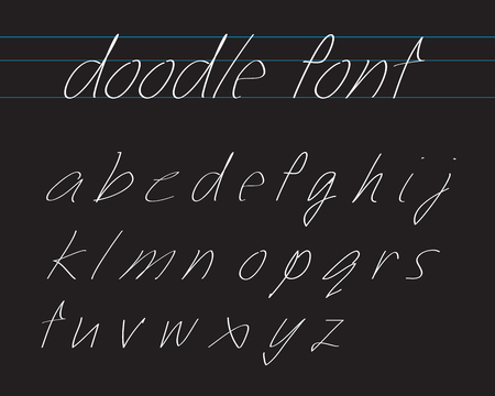 handwriting: Handwriting Font Illustration