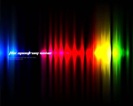 rhythm: Colorful Wave design template Illustration