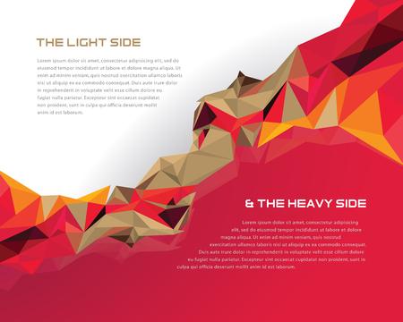 prisma: Plantilla de dise�o de prisma Vectores