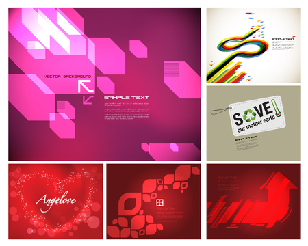 pentagon: Design template collection Illustration