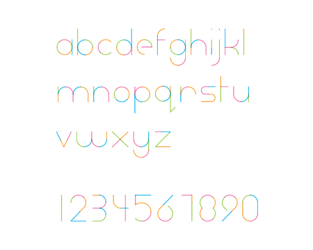 converge: overlapping colorful rounded line font - thin