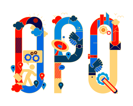 typeface: chinese version fonticon typeface - OPQ Illustration