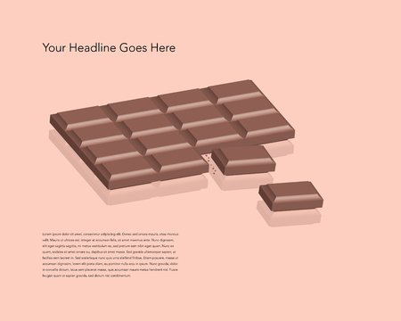barra de chocolate Ilustración de vector