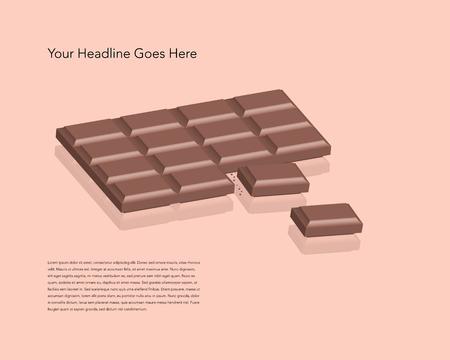 chocoladereep Vector Illustratie