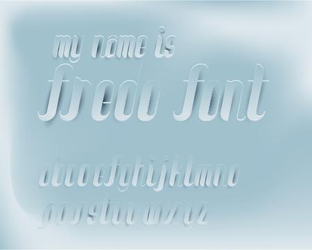 fredo: Fredo Font Paper texture