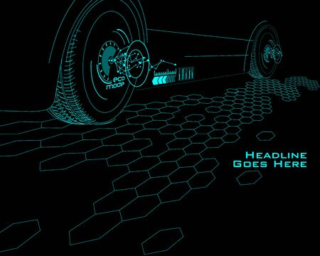 tron: Speed Technology Template with Tron Effect Illustration