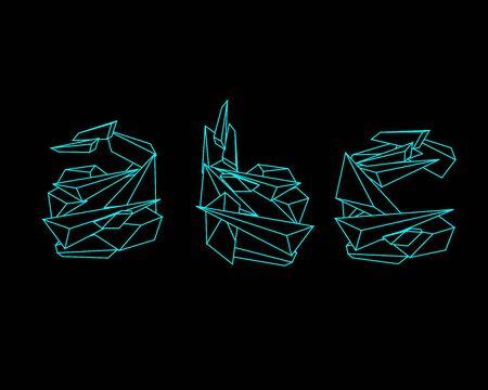 prism: 3D Prism Font - ABC