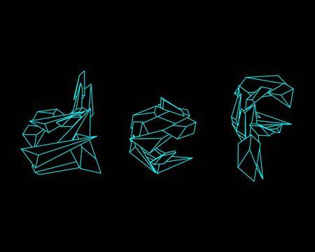 def: 3D Prism Font - DEF