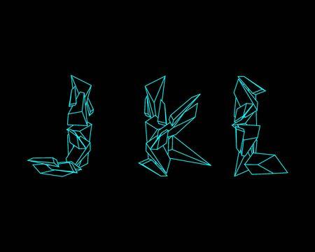 prism: 3D Prism Font - JKL Illustration
