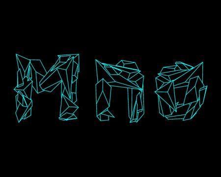 prism: 3D Prism Font - MNO Illustration