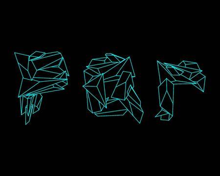 prism: 3D Prism Font - PQR Illustration