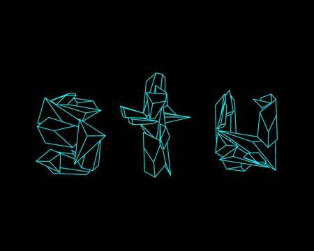 prisma: Prisma 3D de fuente - UTS Vectores