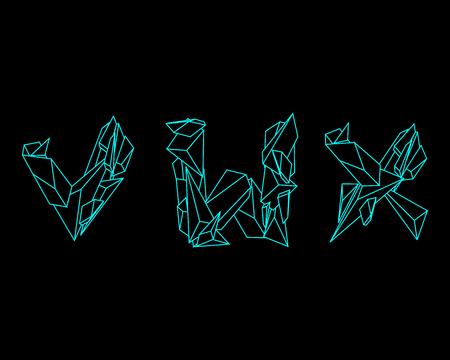 prisma: Prisma 3D de fuente - VWX Vectores