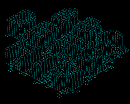 technolgy: 3D block Font - ABCDEFGHIJ