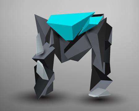 prisma: 3D Prism Font - M