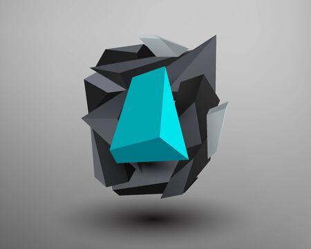 prism: 3D Prism Font - O Illustration