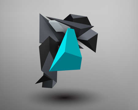 prism: 3D Prism Font - R