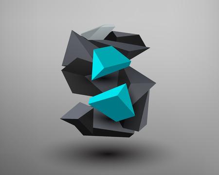 prisma: Prisma 3D de fuente - S Vectores