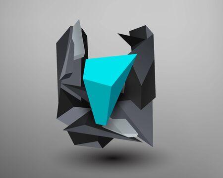 prism: 3D Prism Font - U