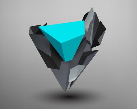 prism: 3D Prism Font - V