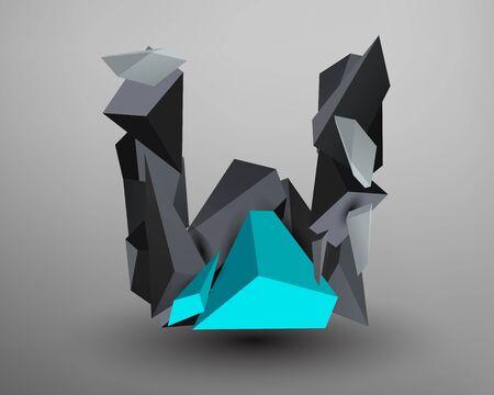 prism: 3D Prism Font - W