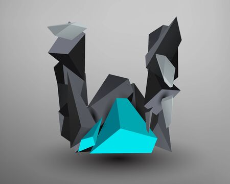 prisma: Prisma 3D de fuente - W Vectores