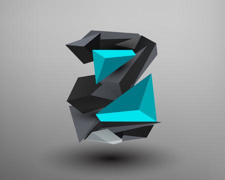 prisma: 3D Prism Font - Z