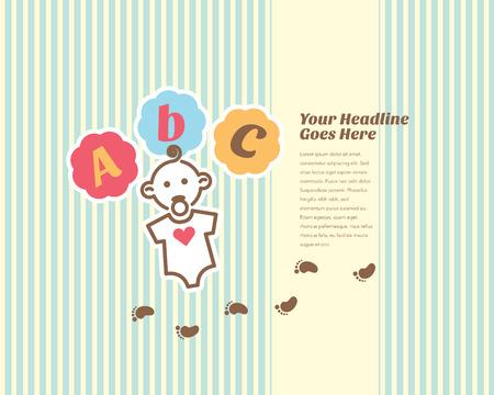 designer baby: Lovely baby design template