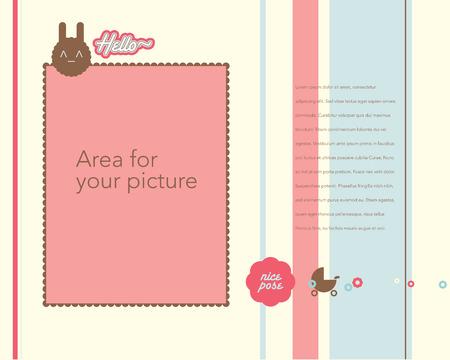 赤ちゃんのアルバム デザイン テンプレート