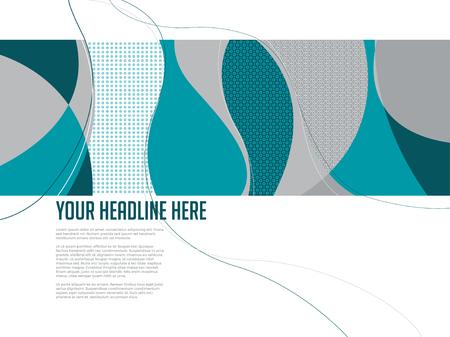 contempory: Swirl pattern design template