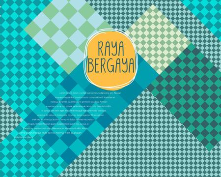 Abstract geometrical pattern Design template. Raya bergaya mean celebrate Aidilfitri with style.
