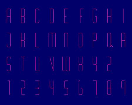 condensed: Condensed Modern Font Type Thin Illustration