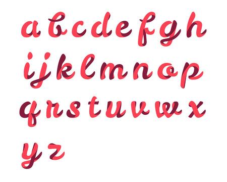 script font Ribbon Vettoriali