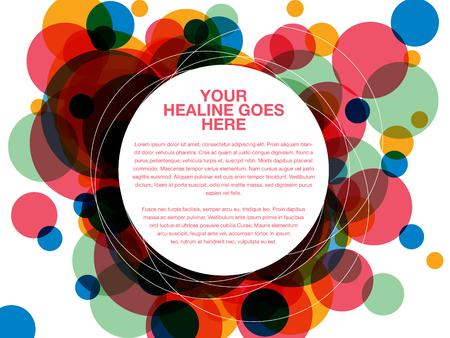 convergence: Colorful dot overlap design template Illustration