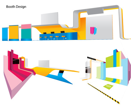 rollup: Colorful Booth Design Illustration