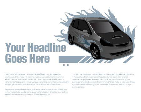 mpv: 3D Car vector design template