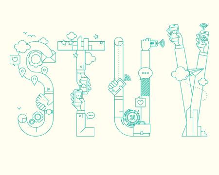 Retro-Entwurf-Grafik Schriftart - STUV