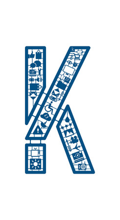 model kit: Assemble icon model kit font -K