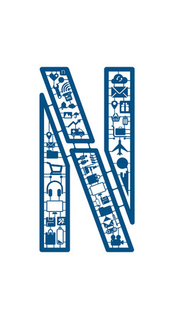 model kit: Assemble icon model kit font -N