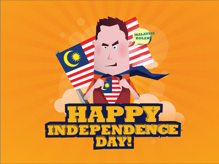 I Am Malaysian! Happy Independence Day Illustration