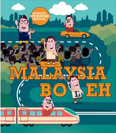 malaysia: Happy Independence day. Translation Malaysia Boleh - Malaysia can do it!