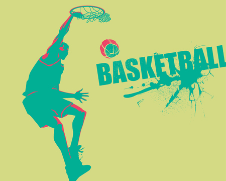 dunking: Slam dunk ink splash Illustration